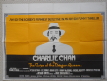 Charlie Chan & the Curse of the Dragon Queen, Original UK Quad, Peter Ustinov 81